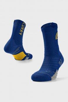 Сині шкарпетки Curry Playmaker Mid-Crew-BLU Under Armour 1358779-400