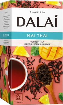 Чай черный Dalai Mai Thai с кусочками ананаса 25 шт х 1.5 г (4810278003636)
