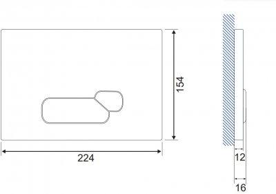 Панель смыва CERSANIT Actis S97-017 белое стекло