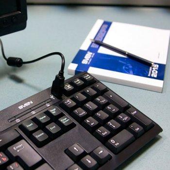 Клавіатура Sven 304 Standard чорна, USB+HUB