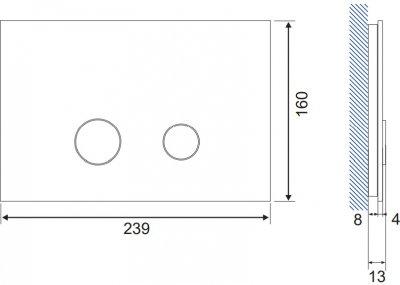 Панель смыва CERSANIT Stero K97-371 красное стекло