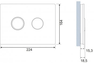 Панель смыва CERSANIT Accento Circle S97-055 белое стекло