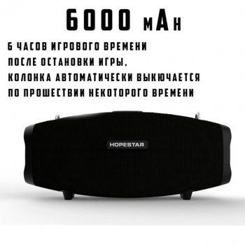 Портативна бездротова Bluetooth колонка Hopestar H1 Party 40Вт Black з вологозахистом IPX6 бездротовим мікрофоном і функцією зарядки пристроїв (H1P)