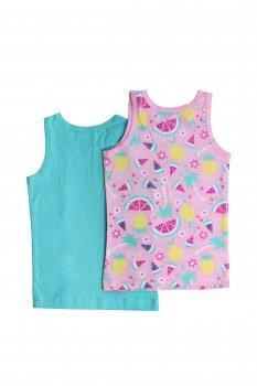 Майка домашняя для девочки 2 шт LUPILU мятный-разноцветный WE-550052