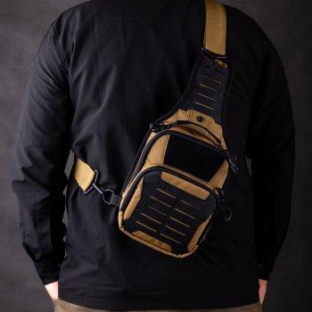 Тактическая сумка-кобура для скрытого ношения Scout Tactical EDC «Tac-box» Cyot-black