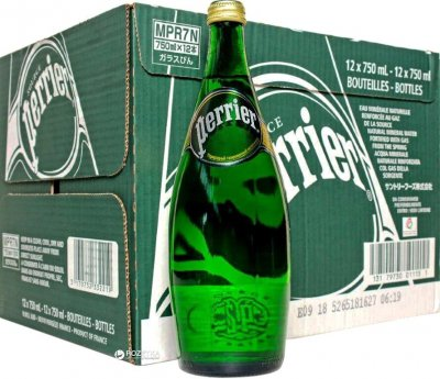 Упаковка минеральной газированной воды Perrier 0.75 х 12 бутылок (3179732332219)