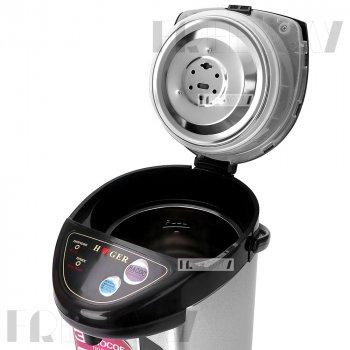 Термопот электрический 6.8 литров для дома нагревательный чайник термос с дисплеем 800Вт Haeger Серебристый (HG-7905)