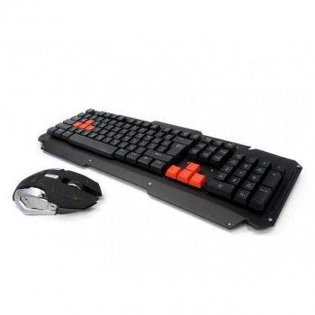 Комплект бездротової клавіатура і миша UKC HK6700 Чорний (592497)
