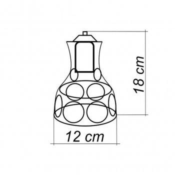 Светильник поворотный на 1-лампу RINGS/LS E27 бра, золото
