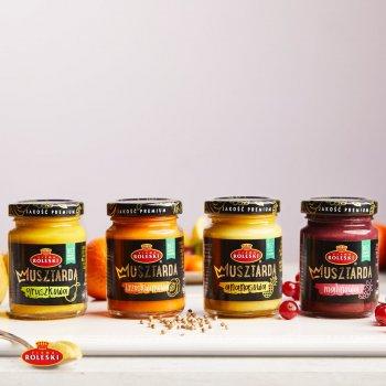 Набор горчиц Roleski фруктовых без глютена 4 шт х 100 г (5901044023374)