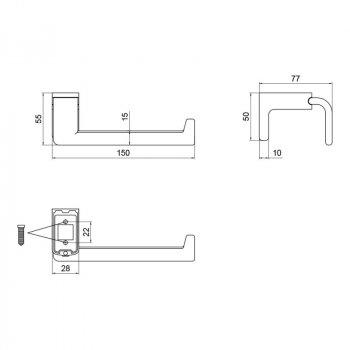 Тримач для туалетного паперу без кришки Lidz (CRM) 123.03.03