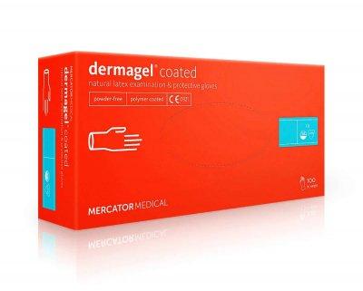 Рукавички Mercator Medical Dermagel Coated латексні 100шт L Білий