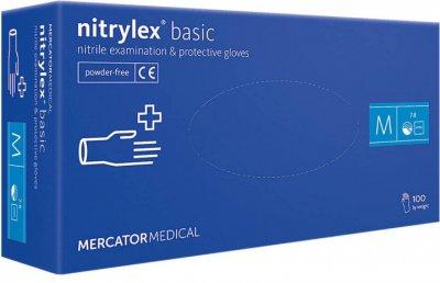 Перчатки Нитриловые Nitrylex Basic M Blue