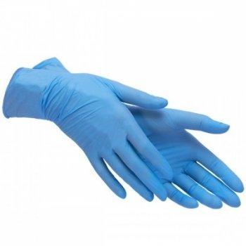 Рукавички Нітрилові Неопудрені Mercator Medical Nitrylex comfort M 100шт Blue