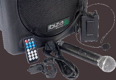 Портативная акустическая система IBIZA PORT12 UHF-BT