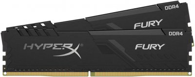 Оперативна пам'ять HyperX DDR4-2400 32768MB PC4-19200 (Kit of 2x16384) Fury Black (HX424C15FB3K2/32)