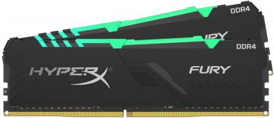 Оперативная память HyperX DDR4-3200 32768MB PC4-25600 (Kit of 2x16384) Fury RGB Black (HX432C16FB3AK2/32)