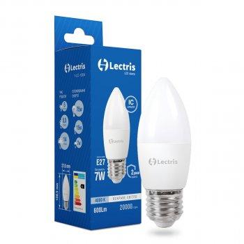 Світлодіодна лампа Lectris С37 7W 4000K 220V E27 1-LC-1304