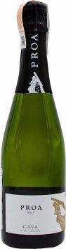 Вино игристое Proa Cava Brut белое брют 0.75 л 11.5% (8413216100860)