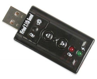 Звуковая карта USB для компьютера или ноутбука, компактная, с регулировкой громкости арт.100075