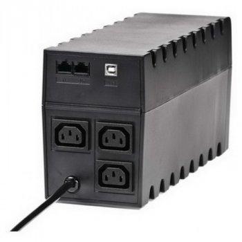 ДБЖ Powercom RPT-600AP, 3 x IEC, USB (00210195)