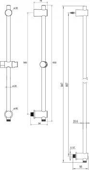Душевая штанга RAVAK 975.01 X07P366