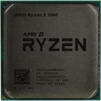 AMD Ryzen 5 2600 (3.4GHz 16MB 65W AM4) Tray (YD2600BBM6IAF)