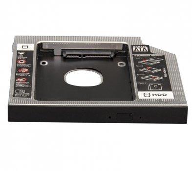 "Переходник Frime для установки 2.5"" SSD/HDD в отсек привода 9.5мм Black/Silver (FHDC950M)"