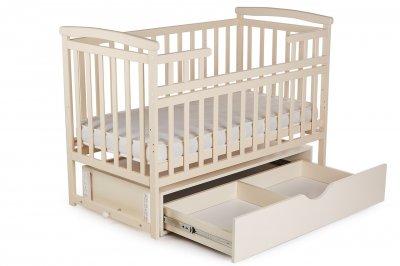 Кроватка-трансформер 2 в 1 Deson с выдвижным ящиком и маятниковым механизмом качания + 2 уровня днища Бежевый