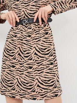Женский ремень кожаный Calvin Klein Jeans Ck Logo Belt 30Mm K60K606716-BAX 90 см Black (8719853000335)