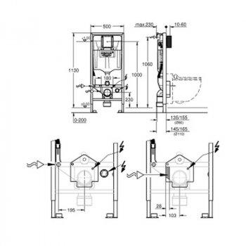Інсталяція для унітаза Grohe Rapid SL Sensia 39112001