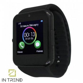 Сучасні електронні смарт - годинник Smart Watch GT08 жіночі – чоловічі на руку для телефону зі слотом під sim-карту для дітей – Розумні годинник з можливістю здійснення дзвінків і функціями - наручний годинник, Black