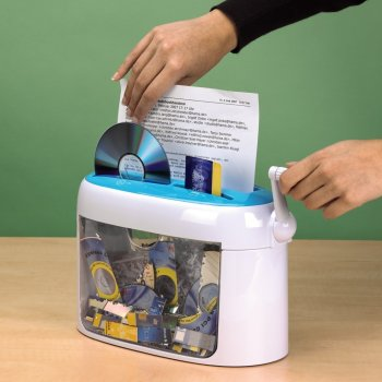 Знищувач документів ручний hama CC 216M, синій