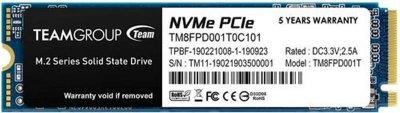 Team MP33 Pro 1TB M.2 2280 PCIe 3.0 x4 3D NAND TLC (TM8FPD001T0C101)