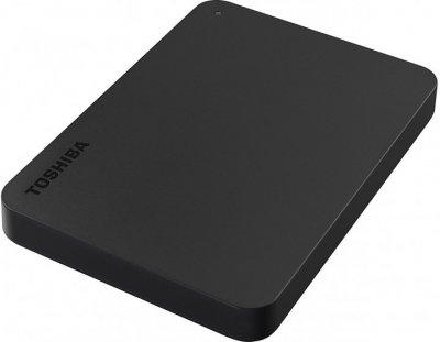 "Жесткий диск Toshiba Canvio Basics + USB-C адаптер 1TB HDTB410EK3ABH 2.5"" USB 3.2 Gen1 External Black"
