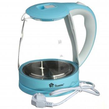 Электрочайник стекло Domotec 2.2 л (MS-8214) White + Sky blue (TRS26)