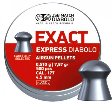 Пули JSB Diabolo EXACT EXPRESS 4,5mm. 500шт. 0,510г.