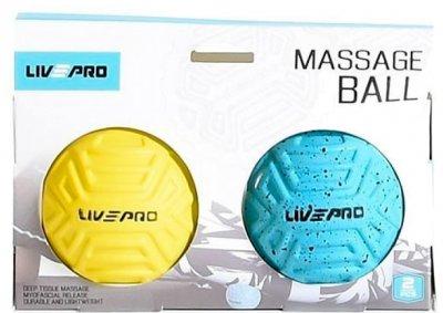 Набір м'ячиків для масажу 2 шт. LivePro Foot Massage Ball 6.8 см (LP8507)