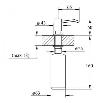 Дозатор Lidz CRM 112 02 000 11 для рідкого мила (LIDZDCRM1120200011)