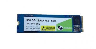 Накопичувач SSD 500GB Mediamax M. 2 2280 NVMe PCIe 3.0 x4 3D NAND TLC Blue (WL 500 SSD Blue) - Refubrished