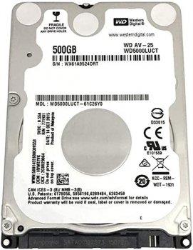 "Накопичувач HDD 2.5"" SATA 500GB WD AV-25 5400rpm 16MB (WD5000LUCT)"