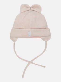 Демисезонная шапка с завязками Elf-kids Ассоль 46 см Пудровая (ROZ6400046082)