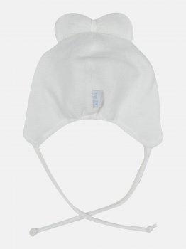 Демисезонная шапка с завязками Elf-kids Тиа 44 см Молочная (ROZ6400046294)