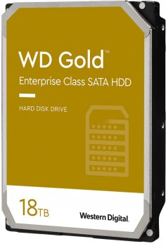 "Жесткий диск Western Digital Gold Enterprise Class 18TB 7200rpm 512MB WD181KRYZ 3.5"" SATA III"