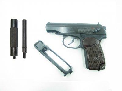 Пістолет пневматичний Байкал МР-654К 32 серія з імітатором глушника