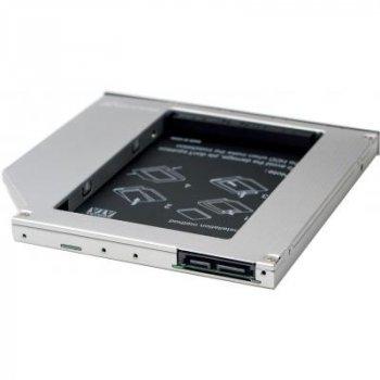 """Фрейм-адаптер Grand-X HDD 2.5"""" to notebook 9.5 mm ODD SATA/mSATA (HDC-24N)"""