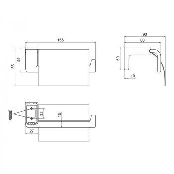 Тримач Lidz CRM 123.03.01 для туалетного паперу (SD00041872)