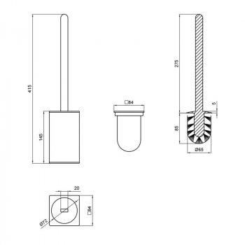 Ершик для унитаза Q-tap Liberty CRM 1157-2 Хром (SD00040054)