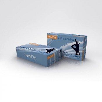 Перчатки Винил синтетик MEDIOK черные (уп 100шт 50пар) размер S (8199)