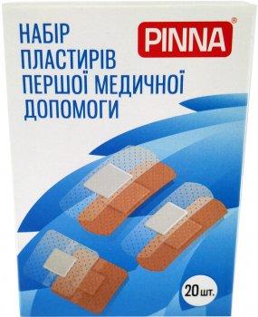 Набор пластырей первой медицинской помощи Pinna прозрачные и телесного цвета 20 шт (4820203730049)